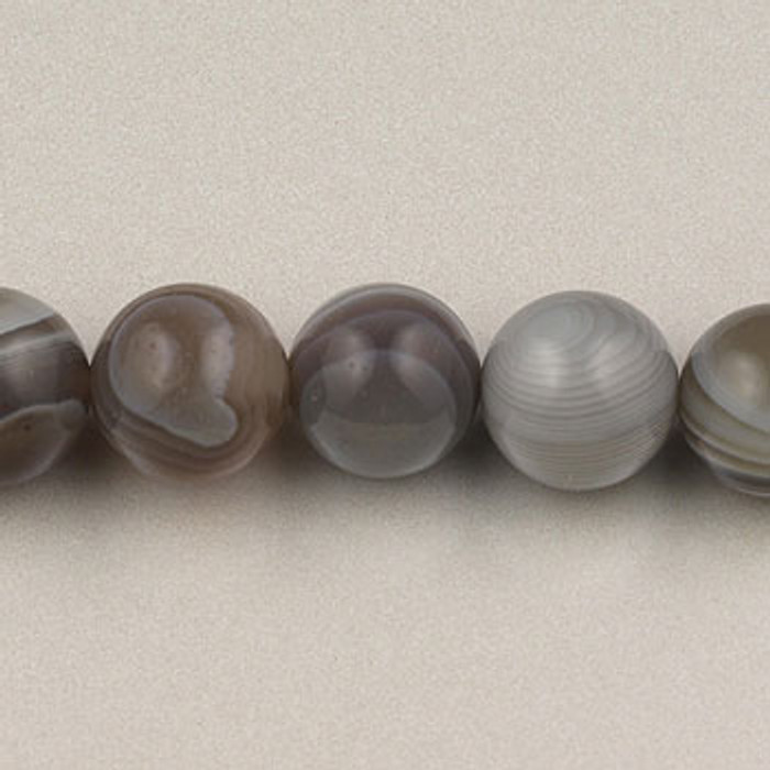 SPS0019 - Botswana Agate, 6MM Round (16 in. strand)