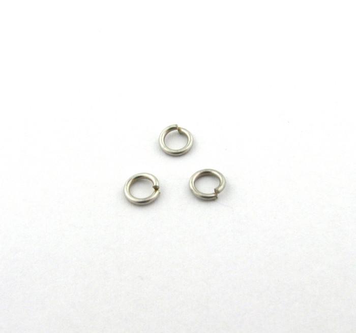 ASP006 - 4mm 21ga Open Jump Ring, Thin, Antique Silver (pkg of 100)