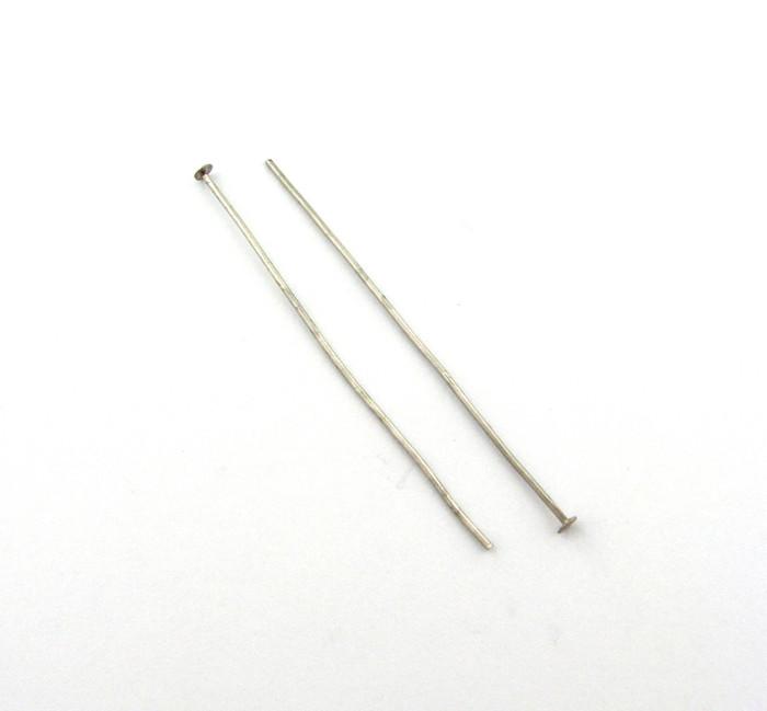 "ASP018 - 2"" 20ga Headpin, Antique Silver Plated (pkg of 50)"