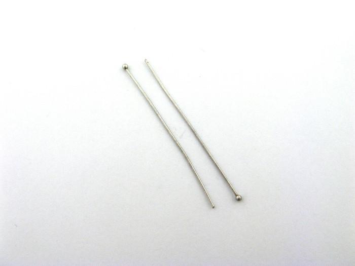 "ASP019 - 2"" 20ga Ball-End Headpin, Antique Silver Plated (pkg of 50)"