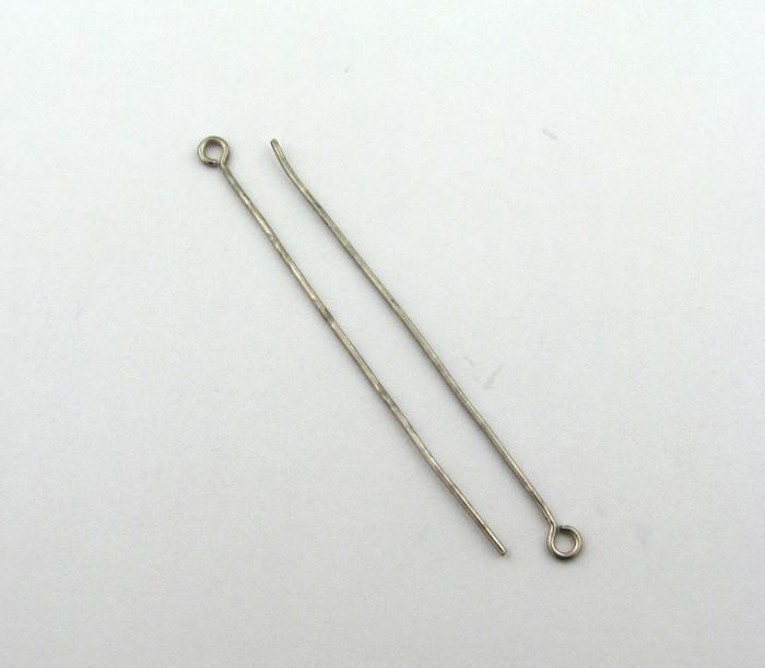 "ASP020 - 2"" 20ga Eyepin, Antique Silver Plated (pkg of 50)"