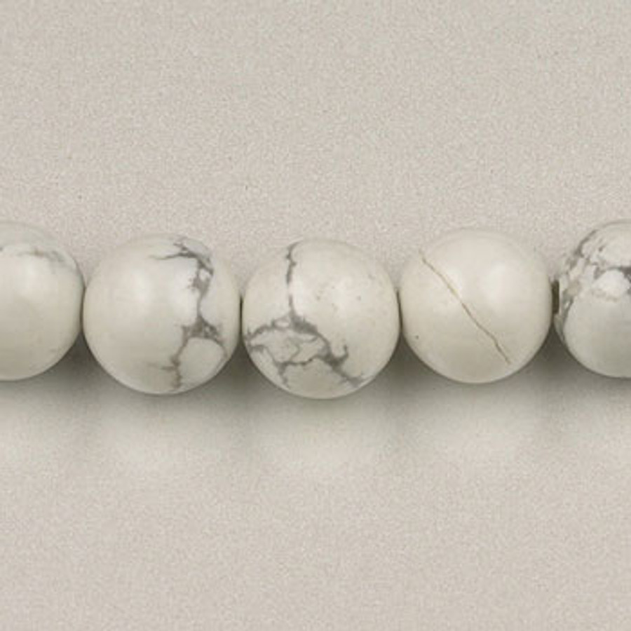 SPS0095 - White Howlite, 4MM Round (16 in. strand)