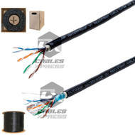 CAT5E OUTDOOR 1000FT Cable Ethernet Pull Box Direct Burial - (Shielded / Unshielded)
