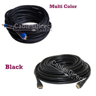 40FT HDMI Cable v1.4 Black / Multi Color Gold Plated for FHD 3D