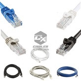 25FT CAT5e Modem Network Cable ( Black / Gray / Blue / White )