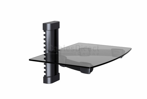 Wall Mounted Floating Glass Shelf for DVD