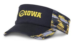 Iowa Hawkeyes Black & Gold Visor - Dash