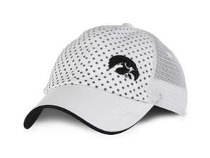 Iowa Hawkeyes White Mesh Cap with Dot Pattern - Dots