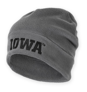 Iowa Hawkeyes Black & Grey Fleece Beanie - Ferrell