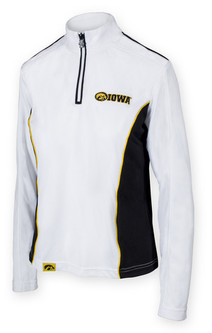Iowa Hawkeyes Black & White Performance Shirt - Chrome