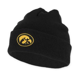Iowa Hawkeyes Black ANF Beanie - Adair