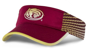 Iowa State Cardinal & Gold Brushed Polyester Visor - Intensity