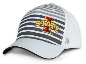 Iowa State Black & White Stretch-Fit Cap - Stripes