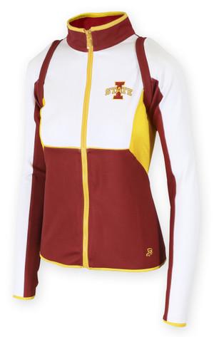 Iowa State Cardinal & Gold Women's Fitness Jacket - Janey