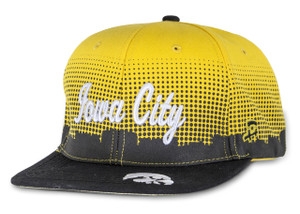 Iowa Hawkeyes Black & Gold Hip Hop Iowa City Cap - Downtown