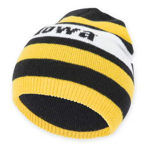 Iowa Hawkeyes Black & Gold Infant Beanie - Harry