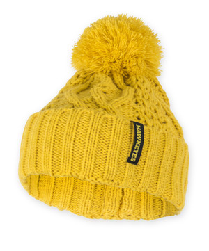 Iowa Hawkeyes Gold Cable Knit Beanie - Anne