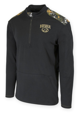 Iowa Hawkeyes Zip-up Camo Pullover - Dane