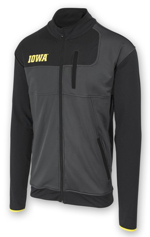 Iowa Hawkeyes Black & Grey Jacket with Chest Pocket - Cook