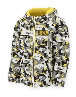 Iowa Hawkeyes Black & Gold Pattern Youth Jacket - Connor