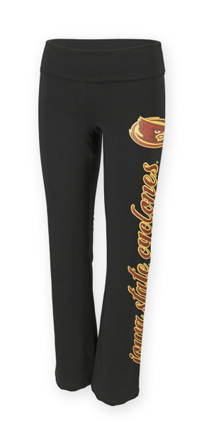 Iowa State Cyclones Black Yoga Pants - Ashley