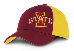 Iowa State Cyclones Cardinal & Gold Fitted Youth Cap - Daniel