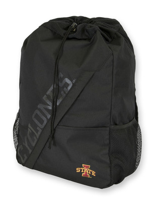Iowa State Cyclones Black Drawstring Backpack - Colby