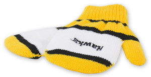 Iowa Hawkeyes Black & Gold Toddler Mittens - Harry