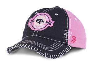 Iowa Hawkeyes Pink Heavy Stitched Farm Strong Cap - Brittany