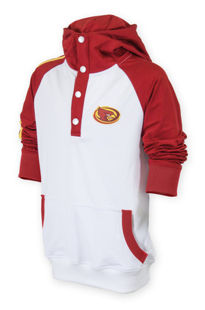 Iowa State Cyclones Cardinal & White Pullover Hoodie - Snap