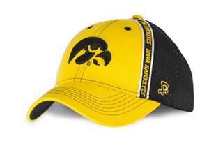 Iowa Hawkeyes Black and Gold Pro Mesh Hat - Brady