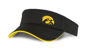Iowa Hawkeyes Black and Gold Visor - Everett