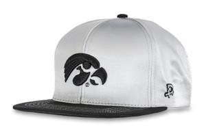 Iowa Hawkeyes White Satin Hip Hop Hat - Dwayne