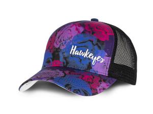 Iowa Hawkeyes Floral Mesh Microfiber Cap - Gina