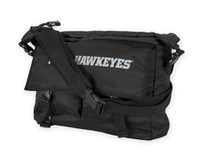 Iowa Hawkeyes Black Roll Top Messenger Bag - Jordan