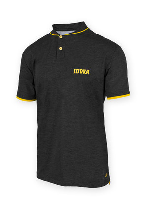 Iowa Hawkeyes Black and Gold Polo - Cameron