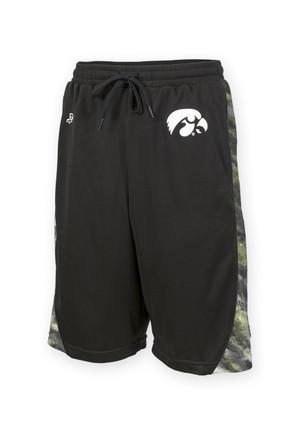 Iowa Hawkeyes Black Mesh Shorts - Dexter