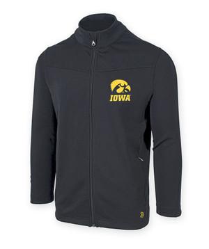 Iowa Hawkeyes Men's Black Fitness Jacket - Bowman