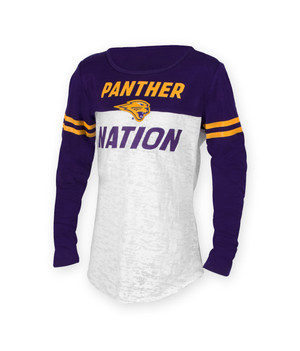 UNI Panthers Purple & Gold Youth Long Sleeve Shirt - Cora