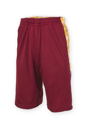 Iowa State Reversible Cardinal & Gold Shorts - Ash