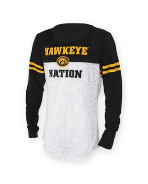 Iowa Hawkeyes Black & Gold Youth Long Sleeve Shirt - Cora
