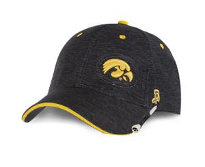 Iowa Hawkeyes Men's Black and Gold Golf Hat - Gage