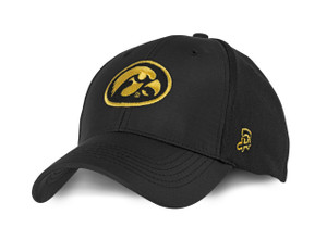 Iowa Hawkeyes Men's Fitted Black and Gold Hat - Bryce