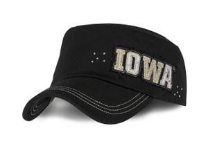 Iowa Hawkeyes Womens Military Style Cap - Cheyenne