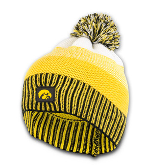 Iowa Hawkeyes Adult Black and Gold Beanie - Emerson