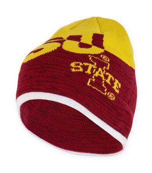 Iowa State Knit Cardinal and Gold Beanie - Leo