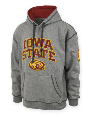 Iowa State Men's Grey & Cardinal Hoodie - Grant