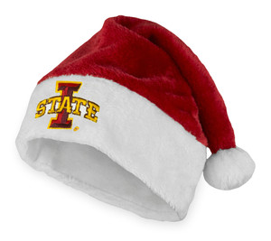 ISU Red & White Santa Hat