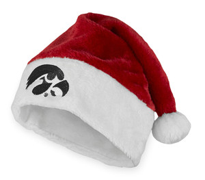 Iowa Red & White Santa Hat