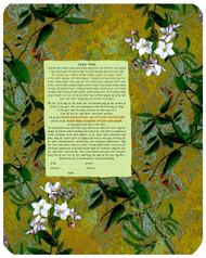 Asian White Flowers Ketubah